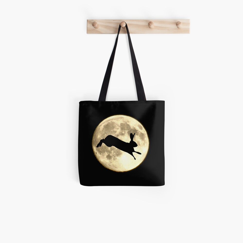 Hare and Moon Tote Bag