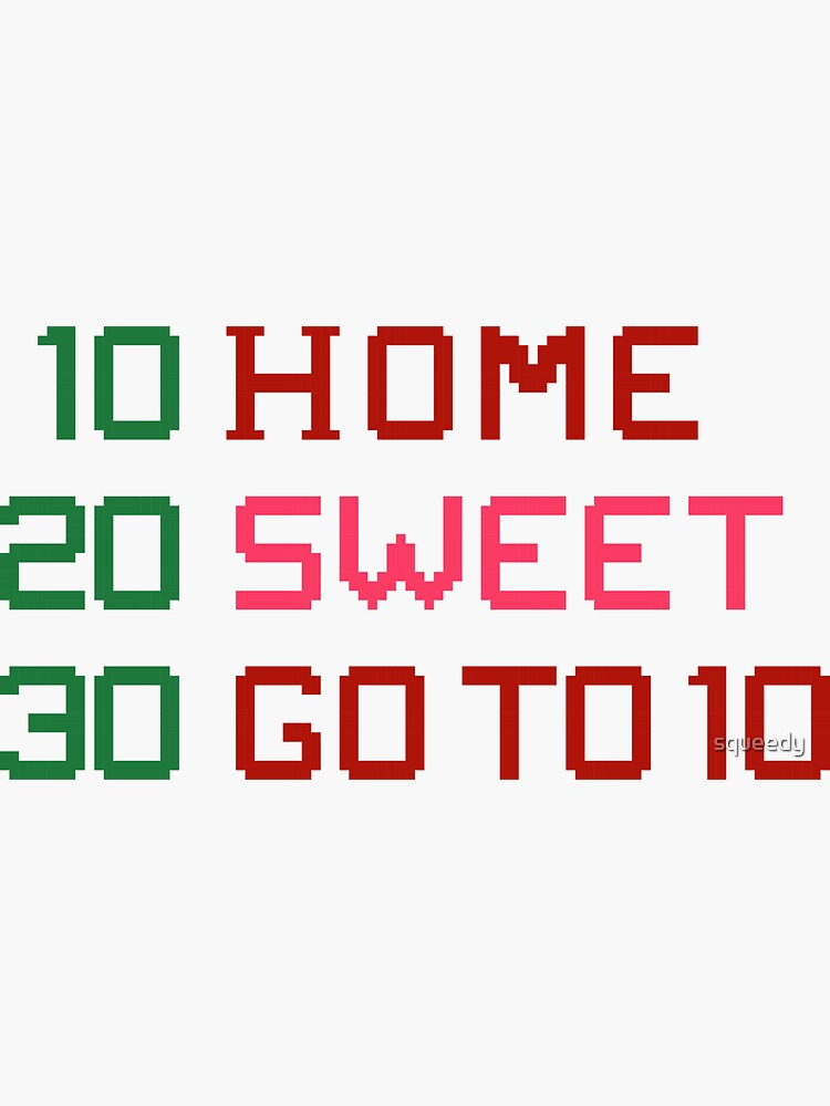 HOME SWEET GOTO 10 by squeedy