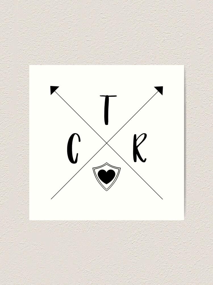 Alternate view of CTR Arrows Art Print