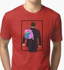 Hello Backpack Design  Tri-blend T-Shirt