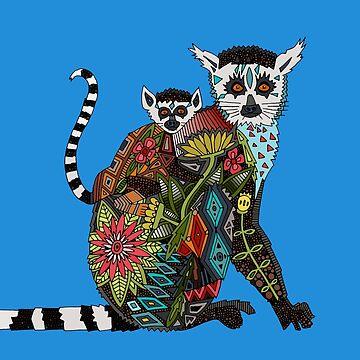Ring tailed Lemur Liebe blau von scrummy
