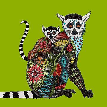 Ring tailed Lemur Liebe Limette von scrummy