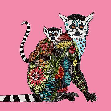 Ring tailed Lemur Liebe Rosa von scrummy
