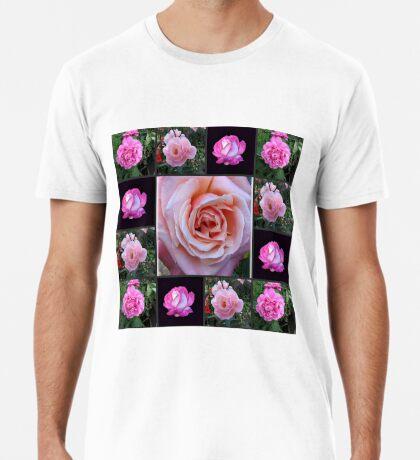 Rosa Rosen-Collage Premium T-Shirt