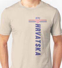 Hrvatska Nationaltrikot Stil Sport Slim Fit T-Shirt