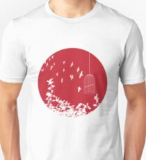 Flying Free 2 Red Large T-Shirt