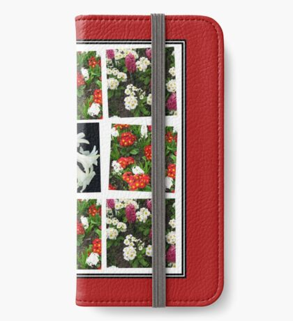 Hyacinths and Primroses Spring Collage iPhone Flip-Case