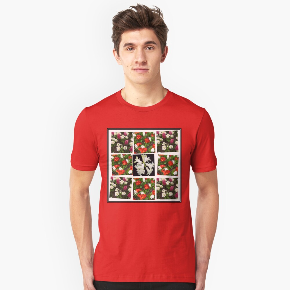 Hyacinths and Primroses Spring Collage Slim Fit T-Shirt