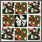 Hyacinths and Primroses Spring Collage von BlueMoonRose