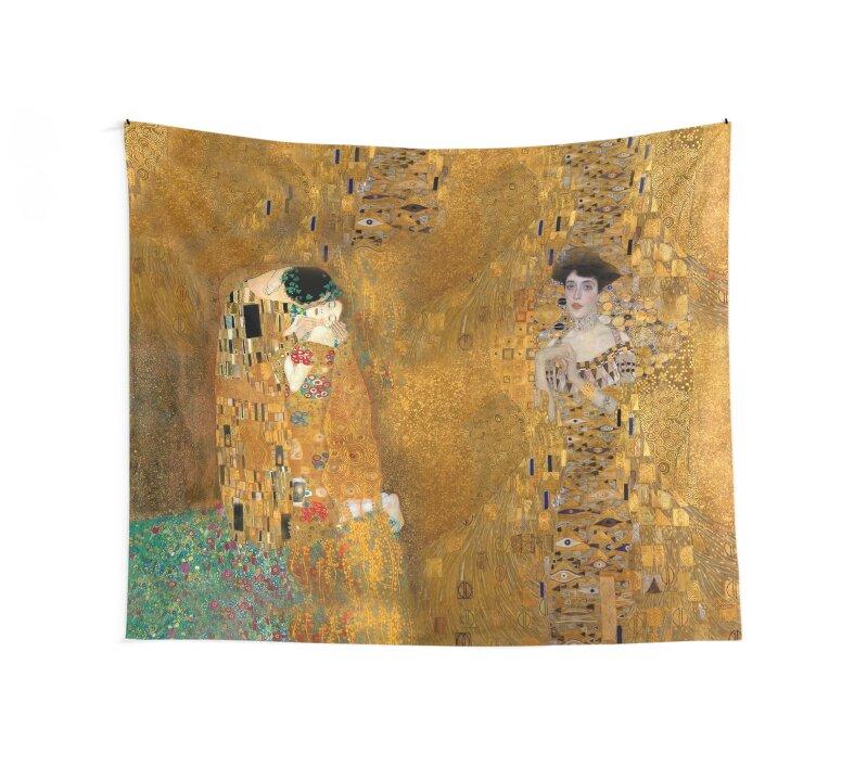 Telas decorativas «Klimt - Mujer en oro - El beso» de Alison Lyons ...