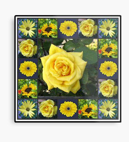 Goldene Schönheiten Collage Metallbild