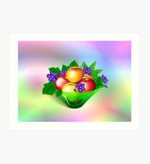 Apples & Violets Art Print