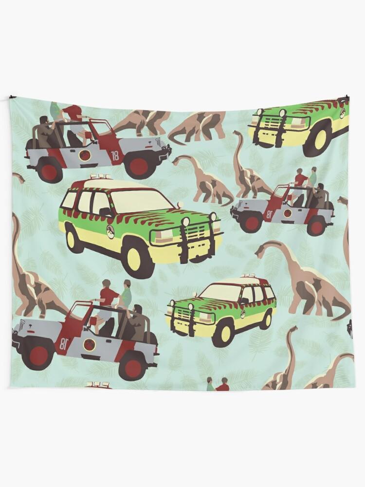 Alternate view of Jurassic Ride Tapestry