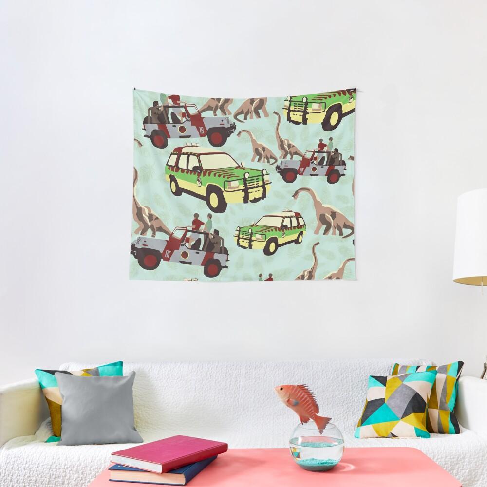 Jurassic Ride Tapestry