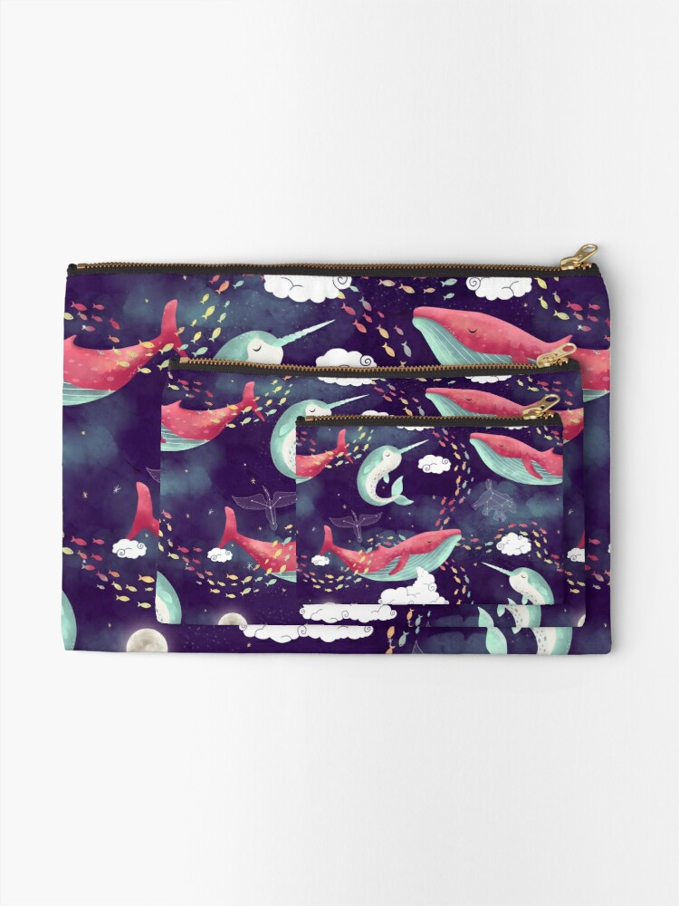 Alternate view of Dream Whales Zipper Pouch