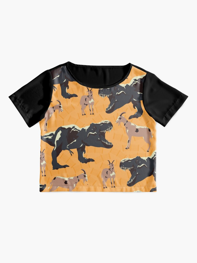 Alternate view of He's Gonna Eat the Goat? Chiffon Top
