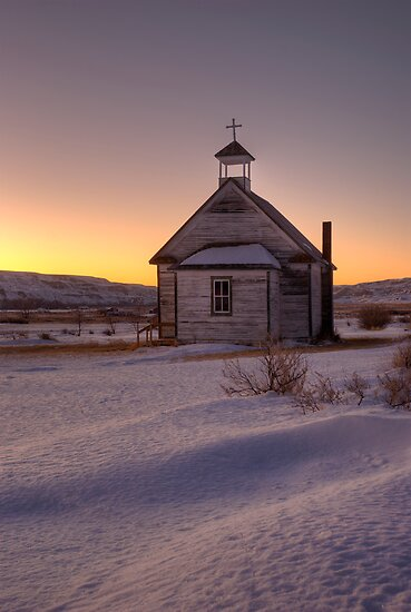 The little church on the prairies. by Philippe Widling