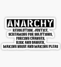 Rent - Anarchy Sticker