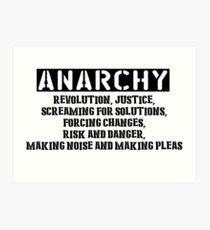 Rent - Anarchy Art Print