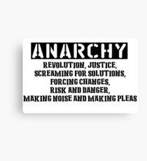Rent - Anarchy Canvas Print