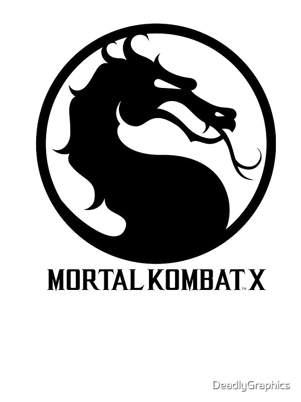 Quot Mortal Kombat X Logo Quot By Deadlygraphics Redbubble
