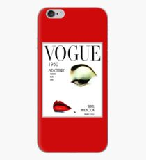VOGUE : Vintage 1950 Beauty and Makeup Advertising Print iPhone Case
