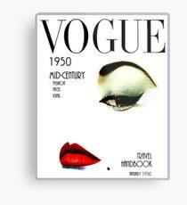 VOGUE: Vintage 1950 Beauty und Makeup Advertising Print Metalldruck