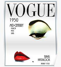 VOGUE: Vintage 1950 Beauty und Makeup Advertising Print Poster