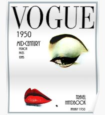 VOGUE: Vintage 1950 Beauty und Makeup Advertising Print Poster