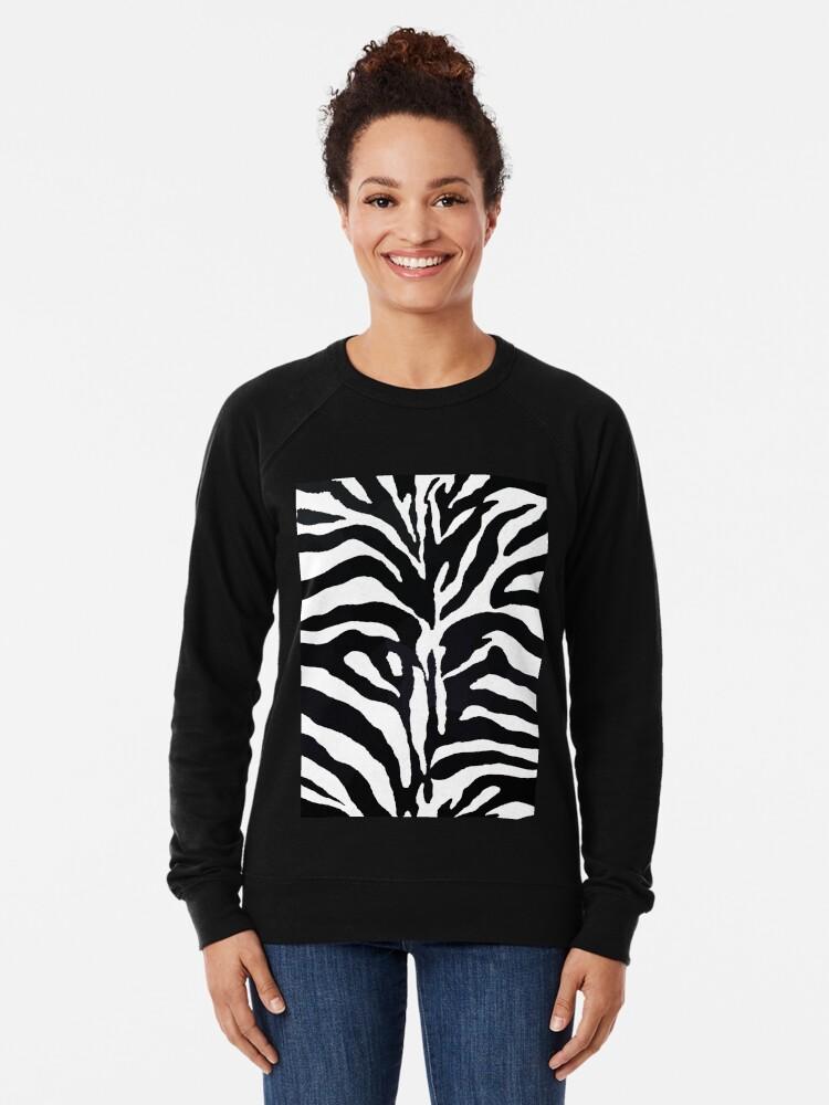 Alternative Ansicht von Zebra-Druck Leichter Pullover