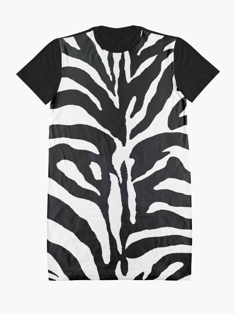 Alternative Ansicht von Zebra-Druck T-Shirt Kleid