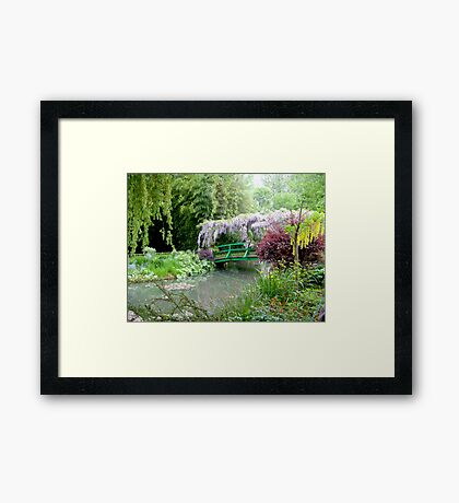 Monet's Bridge Framed Print