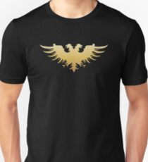 Golden Two Headed Eagle Medieval Empire Symbol Wargaming Unisex T-Shirt