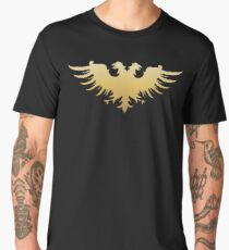 Golden Two Headed Eagle Medieval Empire Symbol Wargaming Men's Premium T-Shirt