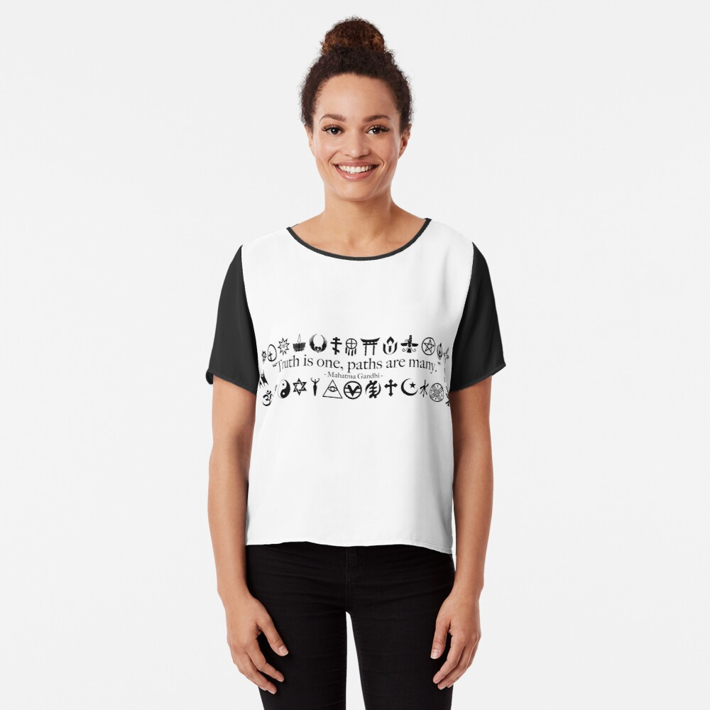 Truth Is One, Paths Are Many - World Religions Chiffon Top