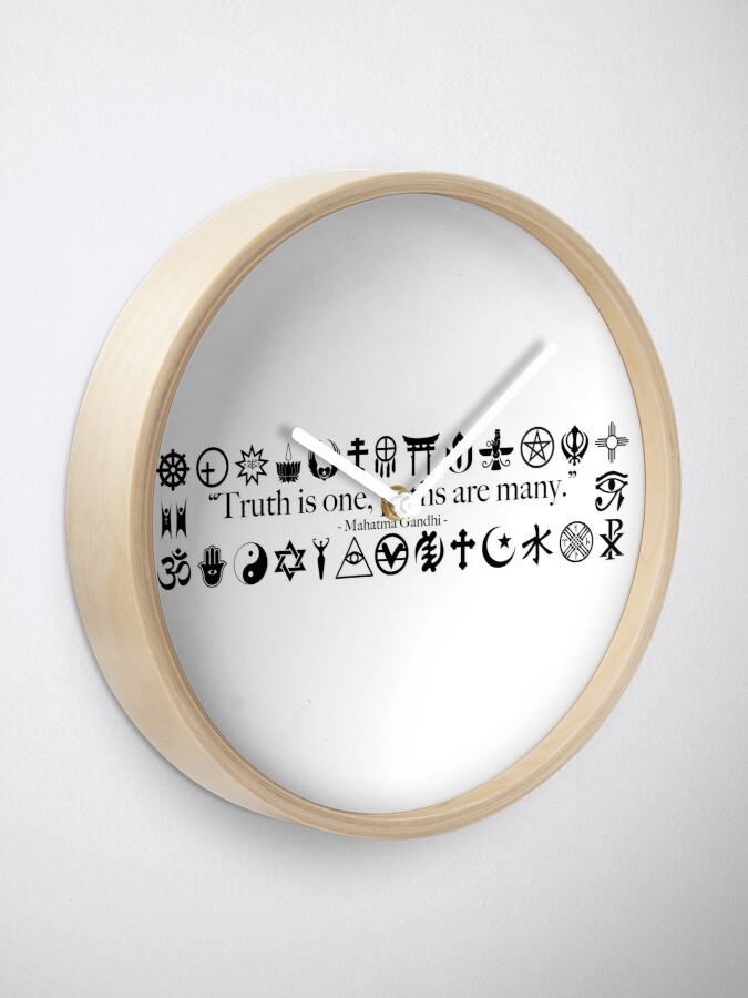 Alternate view of Truth Is One, Paths Are Many - World Religions Clock