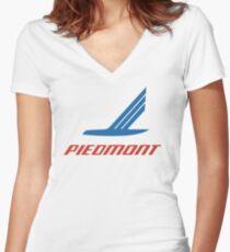 ff541859c44eb8 Vintage Piedmont Airlines Logo Fitted V-Neck T-Shirt