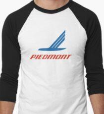 dd7ee431482636 Vintage Piedmont Airlines Logo Baseball ¾ Sleeve T-Shirt