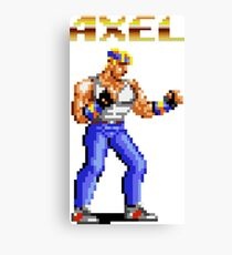 Axel Stone from Streets of Rage Canvas Print