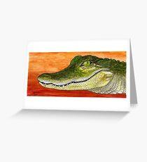 Anahuac Alligator Greeting Card