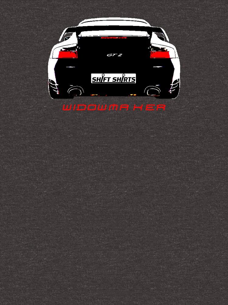 Shift Shirts Black Widow – Porsche 911 996 GT2 Inspired Unisex T-Shirt by ShiftShirts