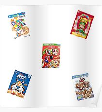 cereal boxes Poster