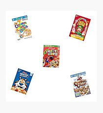 cereal boxes Photographic Print
