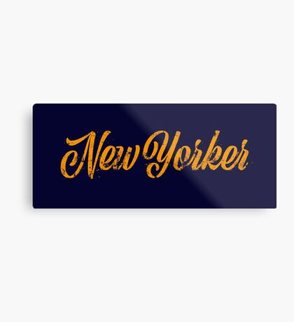 Used New Yorker Hand Lettering Metal Print
