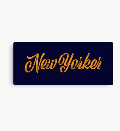 Used New Yorker Hand Lettering Canvas Print