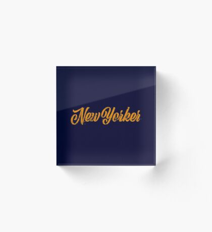 Used New Yorker Hand Lettering Acrylic Block