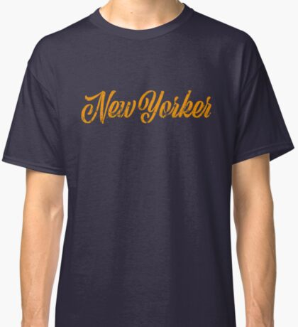 Used New Yorker Hand Lettering Classic T-Shirt