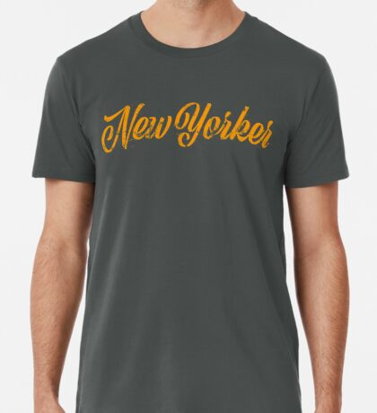 Used New Yorker Hand Lettering Premium T-Shirt