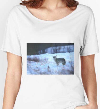 Coyote at Dusk Women's Relaxed Fit T-Shirt