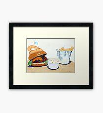 The Westport Burger Framed Print